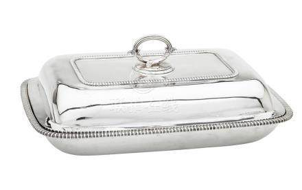 A George III sterling silver lidded entrée dish, William Fou