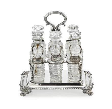 A George III sterling silver vinegar stand, Paul Storr, Lond