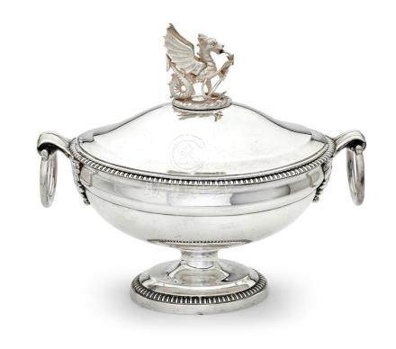 A George III sterling silver lidded tureen, Henry Nutting an
