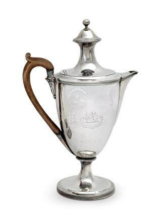 A George III sterling silver coffee pot, Henry Chawner, Lond