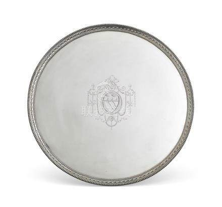 A George III sterling silver salver, possibly John Crouch I