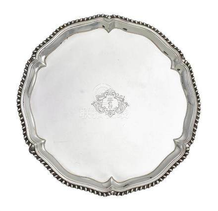 A George III sterling silver salver, John Carter II, London,