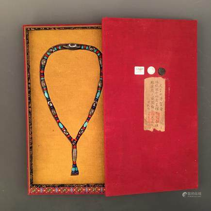 Chinese Court Beads Necklace, Qianlong Mark