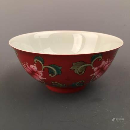 Chinese Famille Rose 'Lotus' Bowl, Kangxi Mark