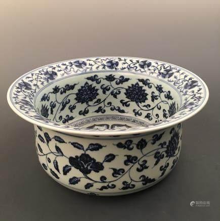 Chinese Blue-White 'Lotus' Zun