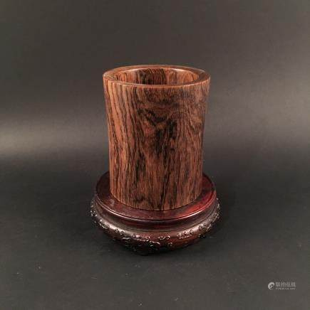 Chinese Rosewood Brushpot