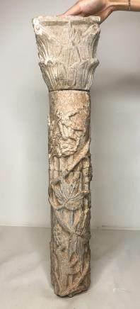 ANCIENT ROMAN MARBLE COLUMN CAPITAL PERIOD