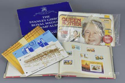 Boxed Stanley Gibbons Royal Wedding Stamp Album, Stanley Gibbons Sir Winston Churchill Stamp Album