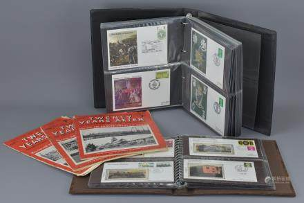 Album of Benham Silk First Day Covers relating to the Railways (approx. 45 total) together with an Album of Military Related First Day Covers and Three ' Twenty Years After ' Magazines