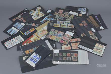 Quantity of Stock Sheets containing Mint and Used GB, Commonwealth and World Stamps including Victoria Penny Reds, Edward VIII and George VI