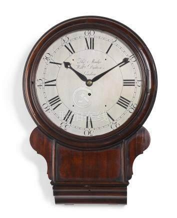 Amahogany drop-dial wall timepiece, Thomas Mudge and William Dutton, London, circa 1770
