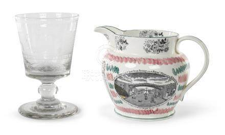 Two Wearmouth Bridge Commemorative Wares, probably North East England, 19th century