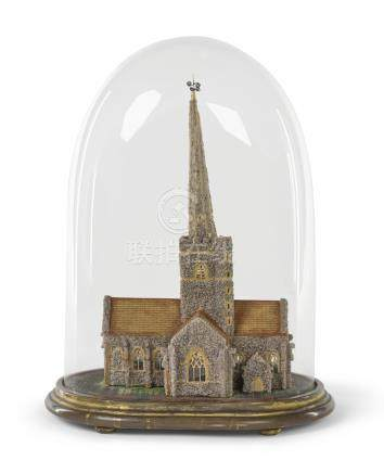 A Victorian architectural model of St. John the Baptist,Shottesbrooke Park, late 19th century