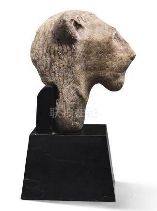 An Egyptian Alabaster Head of Sekhmet, New Kingdom, 1554-1080 B.C.