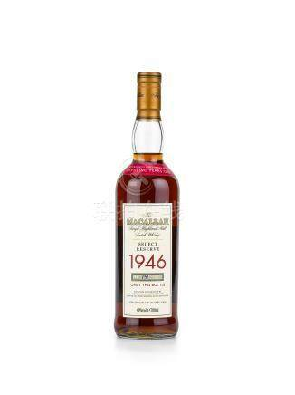 The Macallan Select Reserve 52 Years Old 1946 (1 BT70)