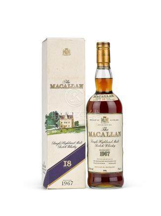 The Macallan 18 Year Old Highland Single Malt 1967 (1 BT)