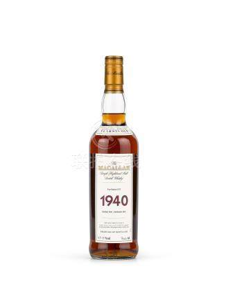 The Macallan Single Malt Fine & Rare Aged 37 Years 1940 (1 BT70)