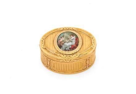 An 18th century German vari-coloured gold box by Les Frères Toussaint, Hanau circa 1790