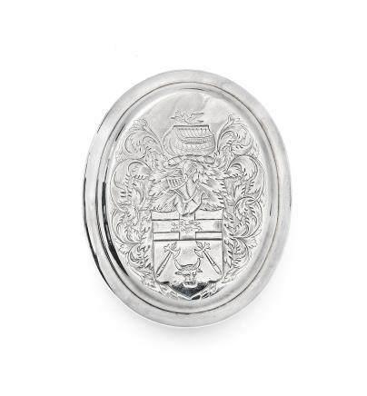 A Queen Anne silver tobacco box by Edward Cornock, London 1713