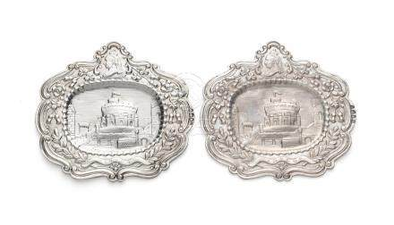 A pair of Victorian silver plaques by John & Frank Pairpoint, London 1884 (2)