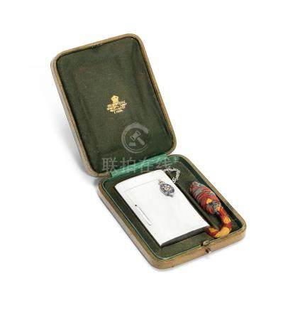 ROYAL INTEREST: An Edwardian silver presentation cigarette case by William Frederick Wright, London 1904