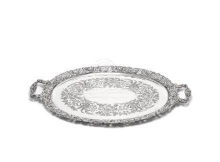 An Edwardian silver tray by Mappin & Webb, London 1904