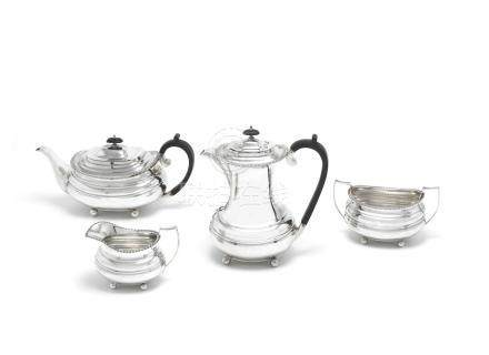 A four-piece silver tea service by William Hutton & Sons, Sheffield 1932 / 1933 (4)