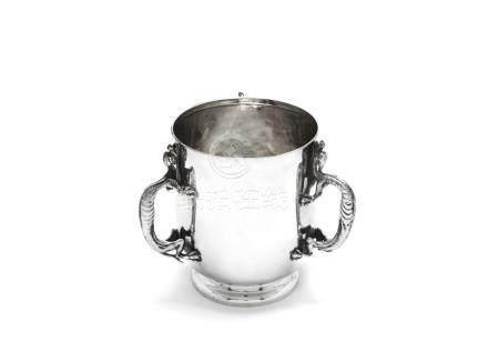 An Edwardian silver tyg cup by Elkington & Co, London 1906