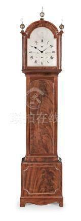 A George III mahogany longcase clock the dial signed George Cobbett, Blackwater