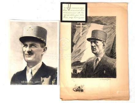 Général DE GAULLE, gravure de Raoul Serres…