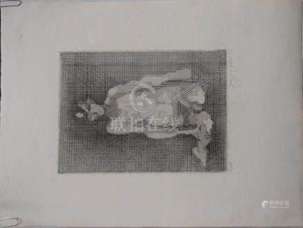 Jacques VILLON (1875-1963), nu assis cubiste,…