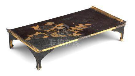 A black lacquer bundai (writing desk) Meiji Era, 19th century