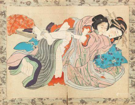 An album of shunga prints 19th century