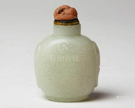 A CHINESE SNOWFLAKE GLASS SNUFF BOTTLE, QING DYNASTY, 19TH CENTURY NOT SUITABLE FOR EXPORTThe