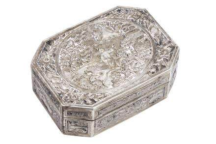 A good Chinese silver snuff box, late 18th or early19th century,
