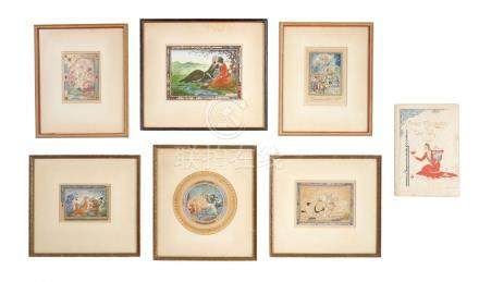 6 ORIGINAL ILLUSTRATIONS BY DARVISH FOR THE RUBAIYAT