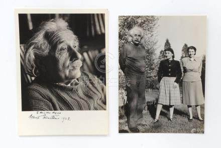 2 VINTAGE ALBERT EINSTEIN PHOTOGRAPHS