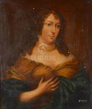 19TH C. PORTRAIT PAINTING OF A YOUNG WOMAN MIGNARD??