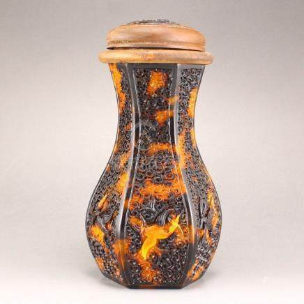 Openwork Tortoiseshell Cricket Pot