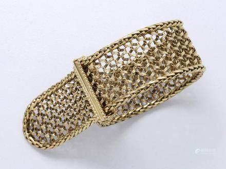 Bracelet en or 750 millièmes stylisant une…