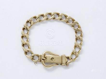 Bracelet articulé en or 750 millièmes, maille…