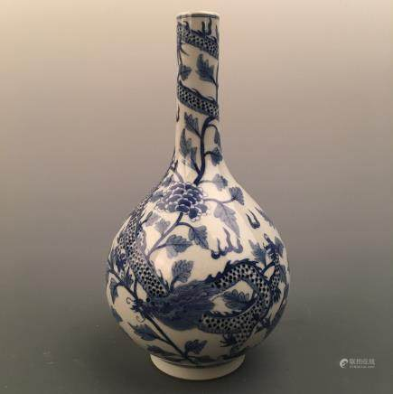 Chinese Blue-White 'Dragon' Vase