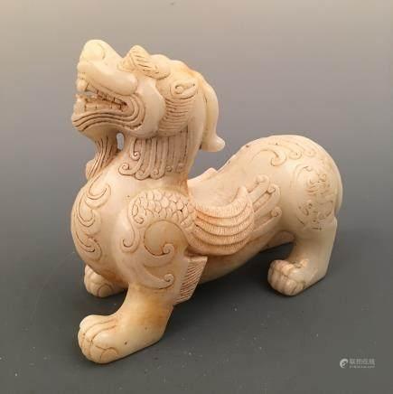 Chinese White Jade 'Ruishou' Figure