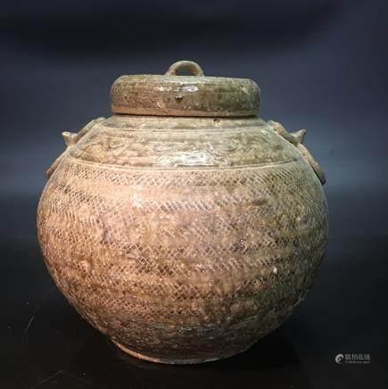 Chinese Yaozhou Kiln Tripod Teapot
