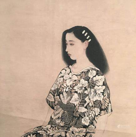 Chinese Hanging Scroll of 'Beauty' Painting