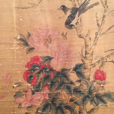 Chinese Hanging Scroll of 'Bird' Painting