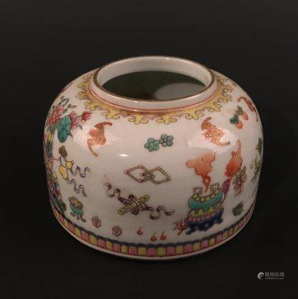 Chinese Famille Rose Brush Washer, Qianlong Mark