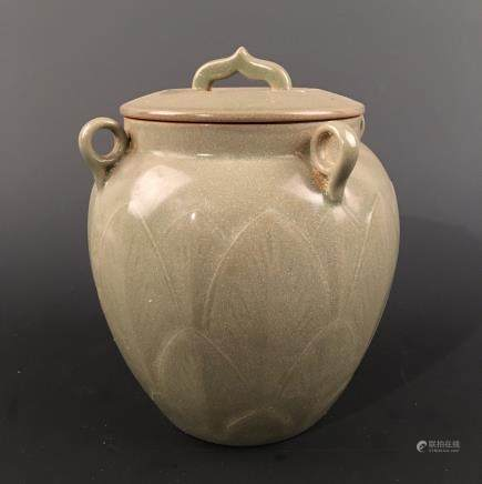 Chinese Longquan Kiln Jar and a Cover