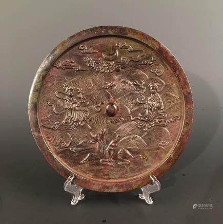 Chinese Bronze 'Immortal' Mirror