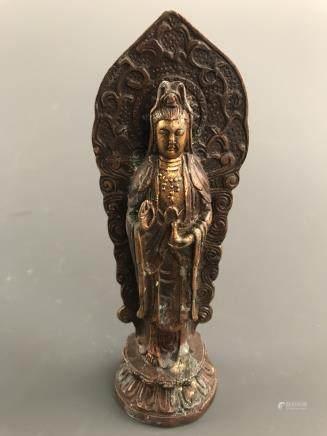 Chinese Bronze Buddha Statue